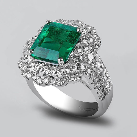 Emerald and Diamond Ring - Goharbin Jewelry - Tehran, Iran